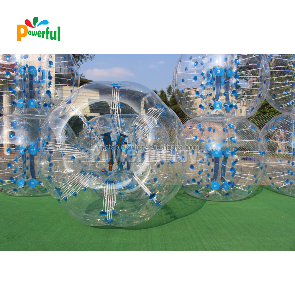 Buy inflatable tpu zorbing ball bubble bumper ball with blue dot