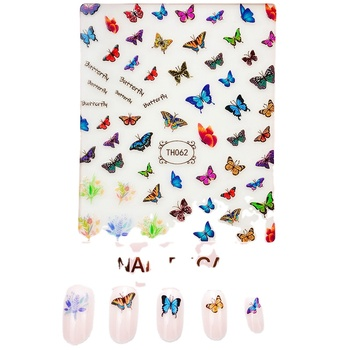 Beauty Sticker 3D Nail Decal Butterfly Sticker China Manufacturer Nail Art Sticker