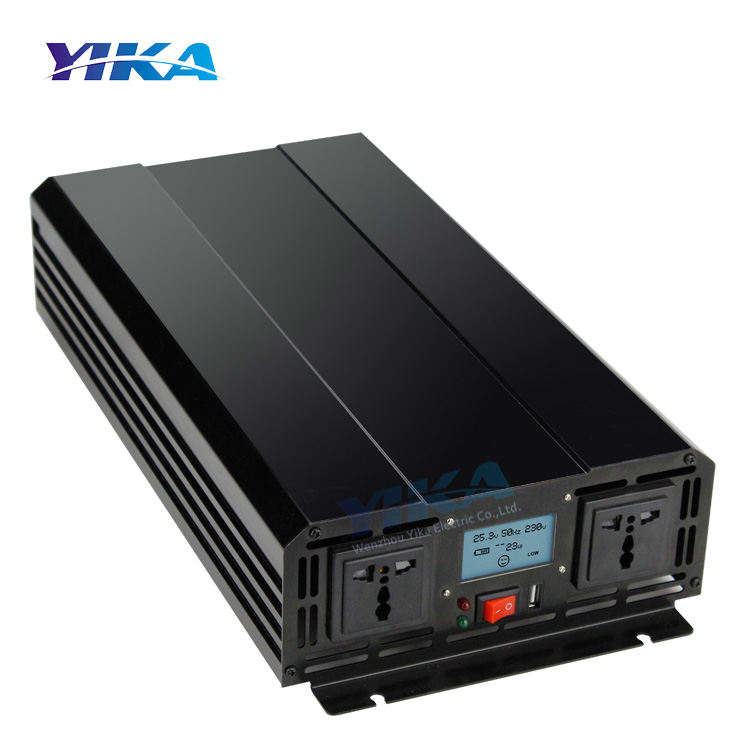 YIKA TP-3000W 3000 watt Power Inverter 12V 24V DC zu AC 110V 220V 3KW Reinen welle Inverter mit USB Port und LCD Display