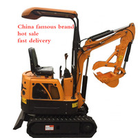 Earth moving machinery  1ton 0.8ton micro mini excavator with free bucket for sale