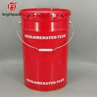 25L UN approved iron tin bucket Metal paint pail with lug lid for solvent based printing ink
