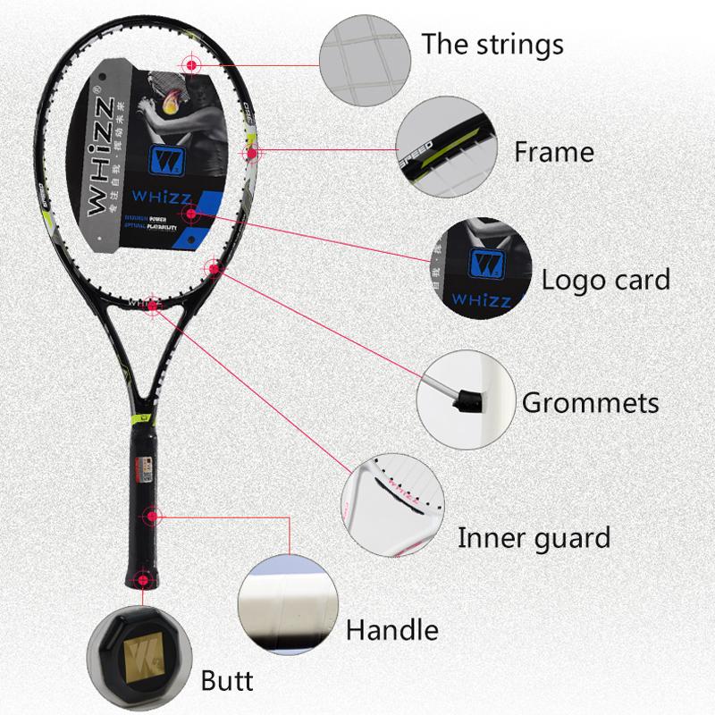 WHIZZ Model 360 36-45LBS aluminum alloy tennis racquet 16x19