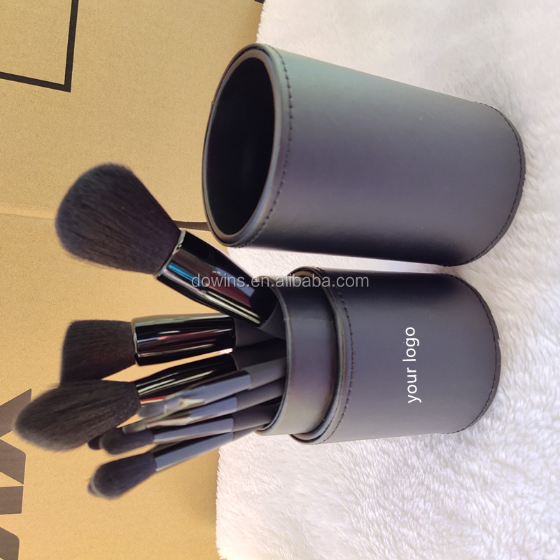 Logo Kustom 9 Pcs Private Label Black Diamond Makeup Brushes Set Kualitas Tinggi Sikat Makeup dengan Kotak