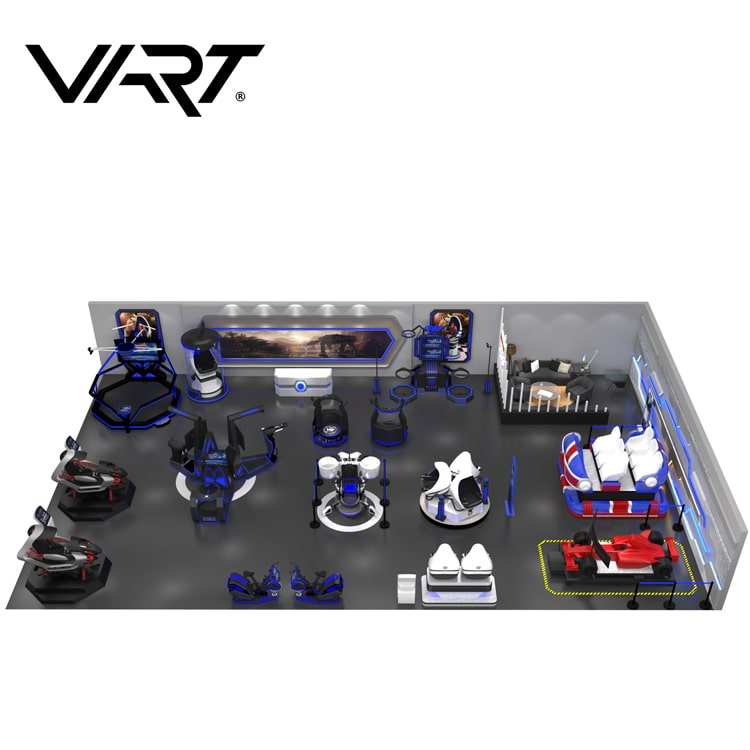 Self Operated VR Booth 9D Virtual Reality VR Arcade Game Machine 9D VR Simulator Shooting Game with CE RoHS