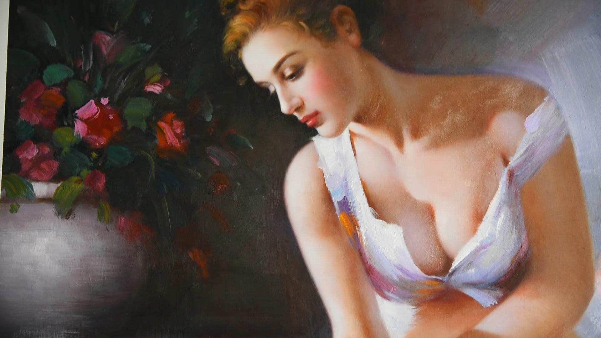 מפורסם אנשים מרילין מונרו בעבודת יד דיוקן ציור שמן תמונה