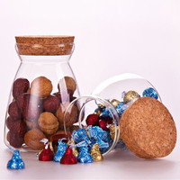 400ml Handmade clear storage jar candy jar condiment canister