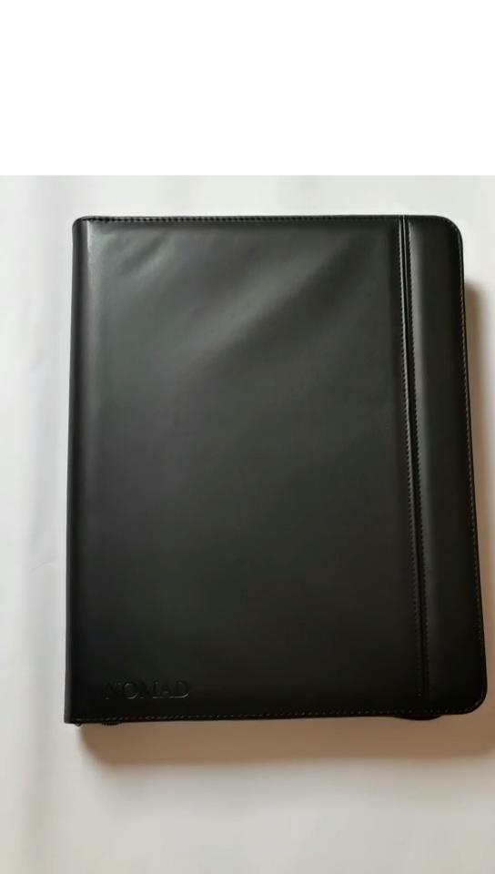 공장 OEMA4 pu leather portfolio 3 링 결합제를 zipper padfolio 와 메모장 sleeve
