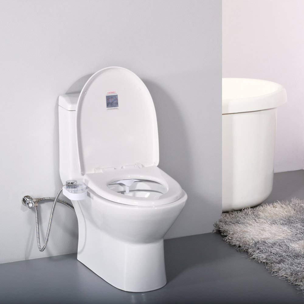 Home Bidet, Self-Cleaning and Retractable Nozzle, Fresh Water Spray Non-Electric Mechanical Bidet Toilet Seat Attachment
