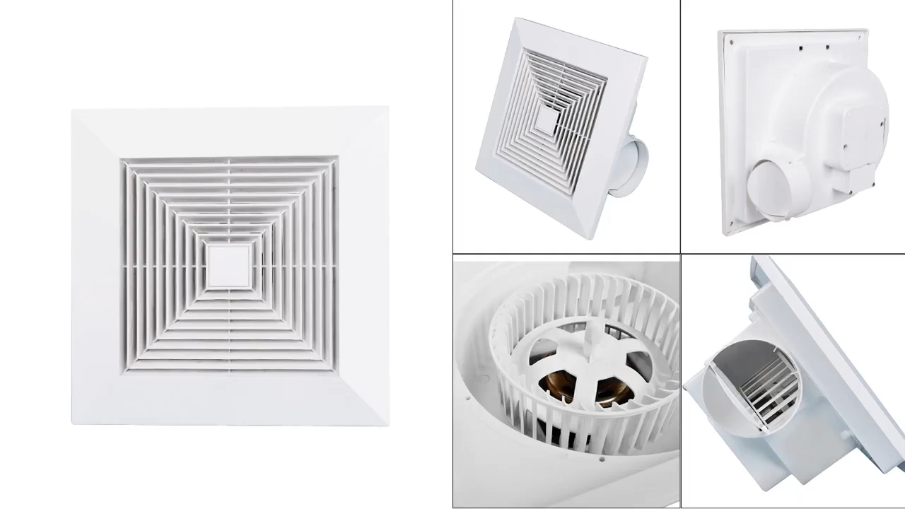 6 8 10 12 20 Inch Ceiling Mounted Pipe Air Vent Roof Price Plastic Ventilation Exhaust Fan