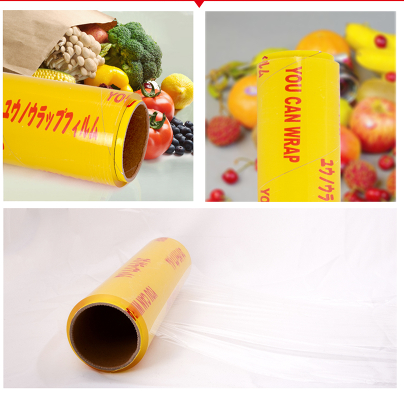 Food Grade High Strength Super Clear PVC Cling Film Food Wrap