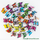 Decoration Butterfly Customized Christmas Hanging Decoration Home 3D Butterfly Stickers New Style Wall Butterfly Stickers