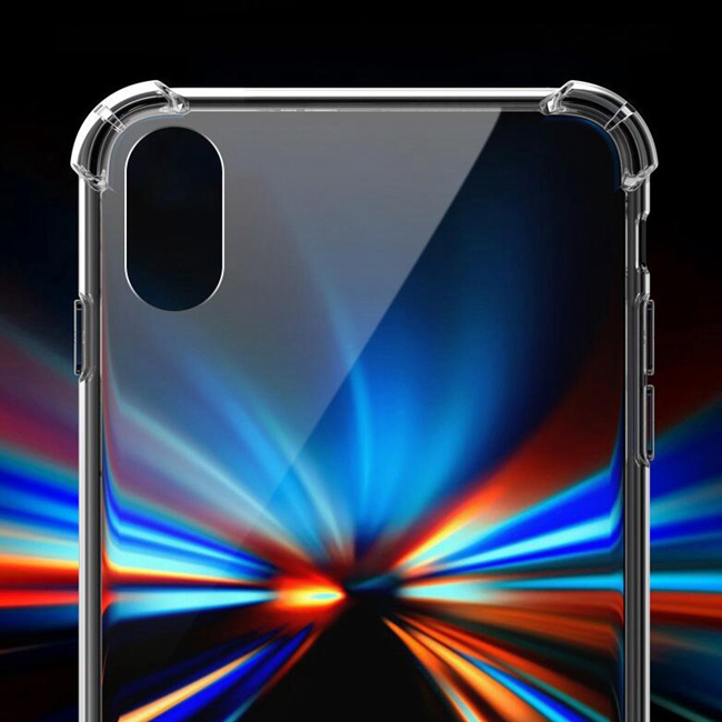 Transparan untuk iPhone XR Phone Case, Aksesoris Ponsel, Silicon Soft TPU Back Cover For iPhone X Case Ponsel