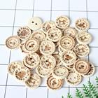 AD0167 20mm 'Handmade With Love' Buttons Unfinished Natural Wooden Button Suppliers Scrapbook Sewing Button