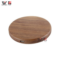 High Quality 10W Qi Cheap Wooden and Metal Wireless Charging Pad