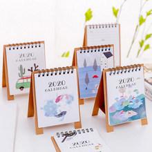 1 шт. новый год 2020 лесные животные мини настольная бумага календарь ежедневный планировщик стол планировщик(Китай)