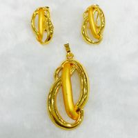24k gold plated african jewelry sets necklace and earrings for summer season small medium big earrings pearl jewelry - 4