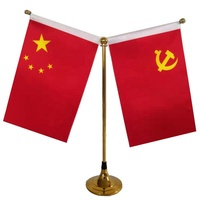 TF-044 indoor professional dye sublimation durable vivid mini national table flag & banners of all countries in the world