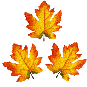 Artificial Fall Maple Leaves Autumn Leaf for Thanksgiving Wedding Party Events Indoor Outdoor Wreath Decoration