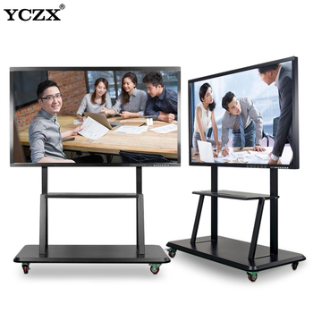 China Big Factory Good Price touch screen smart whiteboard stands for remote conference