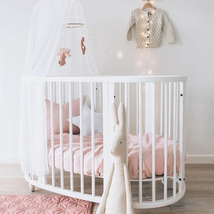 Free shipping 2019 New Design beds baby cribs baby cradle Circular bed round oval crib