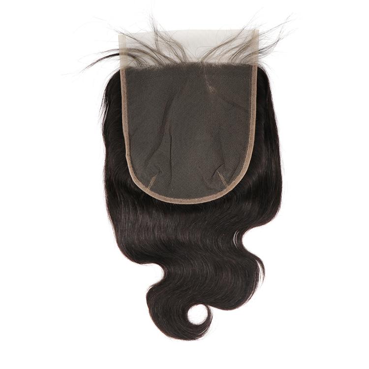 Chiusura frontale donna vergine BW dell'onda del corpo 1B #5x5 Pizzo Trasparente vietnam umani hairpelucas anteriore del merletto wig3 pacchi dei capelli
