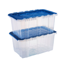 57 L Clear <span class=keywords><strong>Body</strong></span> Mooie Kleur Deksel Factory <span class=keywords><strong>Direct</strong></span> Plastic Tote Doos