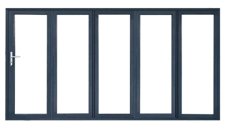 सुरक्षा टेम्पर्ड ग्लास एल्यूमीनियम तह bifold विंडोज/हैंडल के साथ दरवाजे
