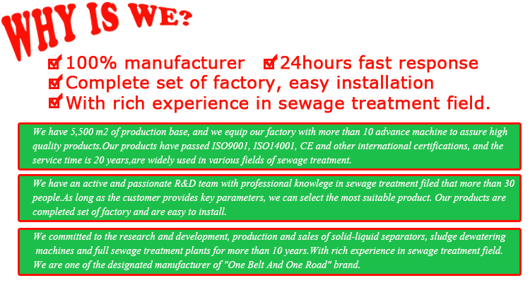 Fabbrica di porcellana di JWC marca impianto di trattamento delle acque reflue 1 a 2.5 m3 PP di plastica fossa settica