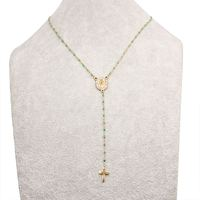 A grade 14k lady cross jesus pendant choker women handmade adjustable 316L stainless steel bracelets