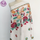 Beautiful towel polyester flower design embroidery 100% cotton swiss voile lace fabric