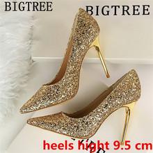 Обувь для королевы на очень высоком каблуке; блестящие белые туфли на каблуке для стриптиза; Фетиш-обувь; модельные туфли; женская пикантная...(Китай)