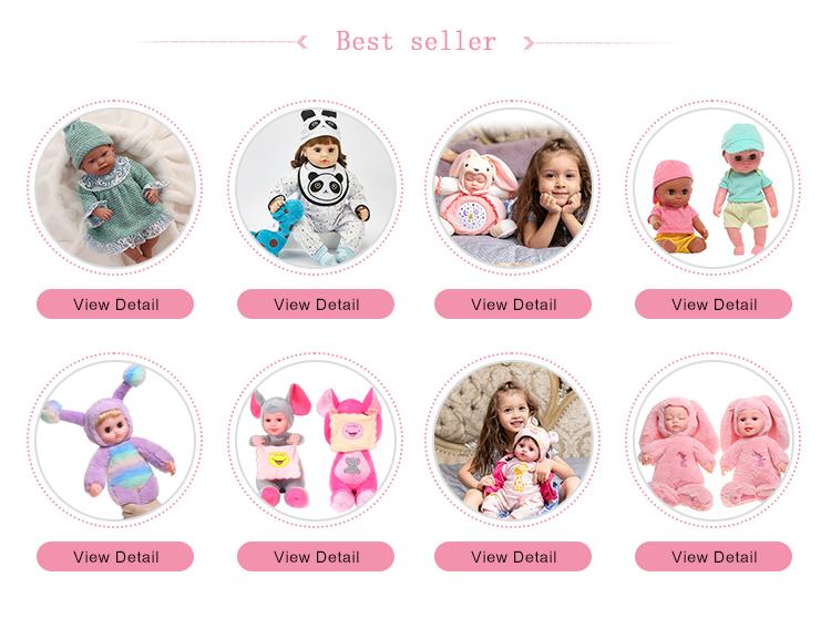 18 pulgadas 47cm bebé reborn muñeca kit bebe muñeca de vinilo de silicona renacer muñecas