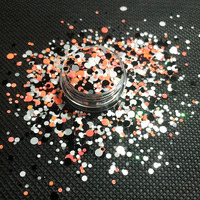 New orange black white chunky glitter for Halloween