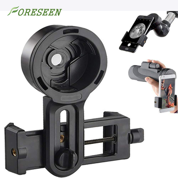 Foreseen amazon Universal Cell Phone Quick Photography Bracket for Microscope Binocular Spotting Scope Telescope Accessories