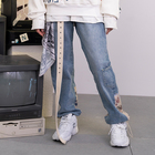 New Style Vintage Hip Hop Adult Jogger Dickies Pants Fashion Patched Loose Straight Harem Denim Women Jeans Pants