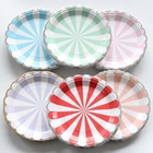 Wholesale colorful biodegradable disposable paper dinner plates