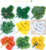 Home Decora 12 Pcs Assorted Mixed Fall Colored Artificial Maple Leaves for Weddings Events and Decorating