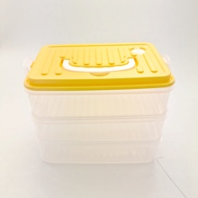 Contenitore di Stoccaggio di Plastica trasparente Box Eco-Friendly Materiale del Commestibile PP BPA Libero Per Uso Domestico