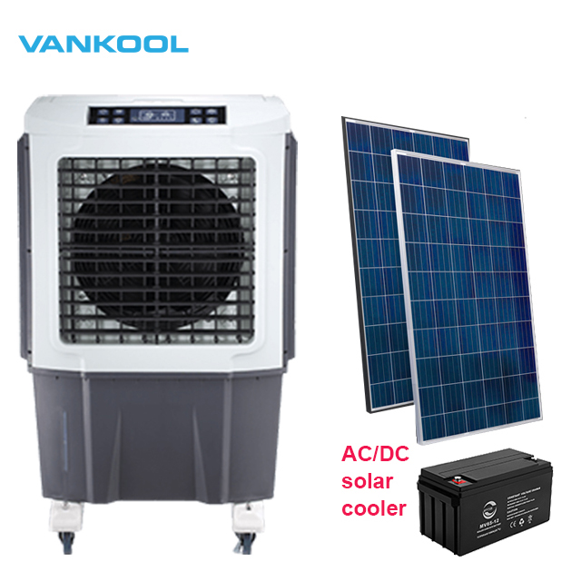 <strong>AC</strong>/DC Solar rechargeable water cooled portable air conditioner dc air cooler pakista with evaporative cooling system