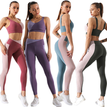 Nuova Donna Palestra Leggings Push-Up Imbottito Reggiseno di Sport di Yoga Set