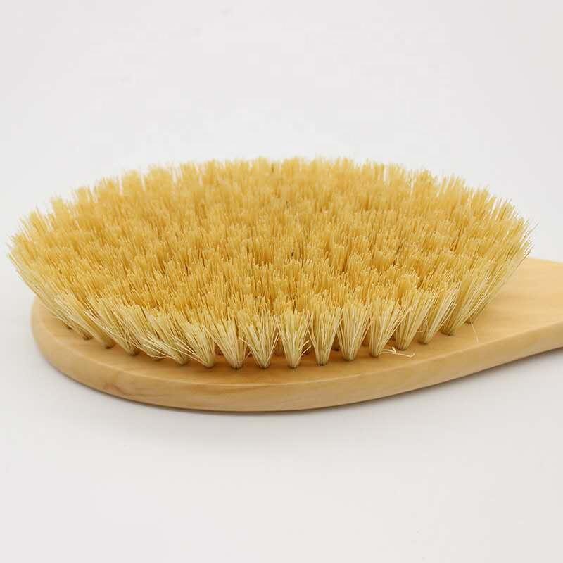 wholesale high quality bamboo dry skin body brush boar bristles bath brush