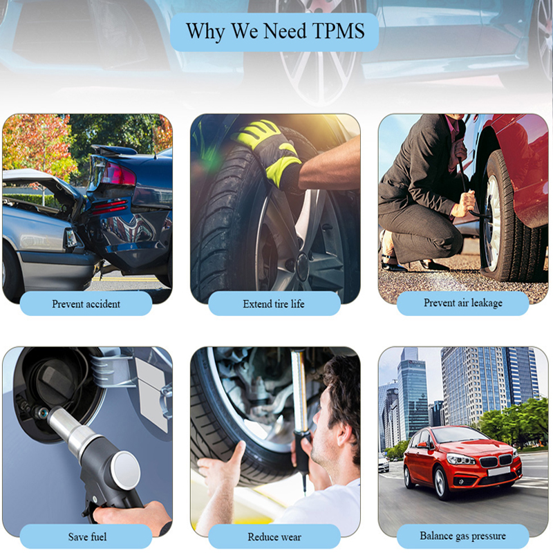 Hot TPMS for Android CAR DVD Car Tire Pressure Monitoring System USB Tire Sensors Alarm Monitoring System