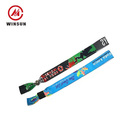 Wholesale Comfortable Sublimation Printing Custom Personalised Festival Polyester Fabric Wristband