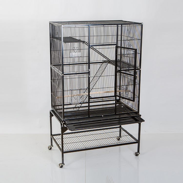 Wholesale Black Iron Bird Cage Aviaries for Sale