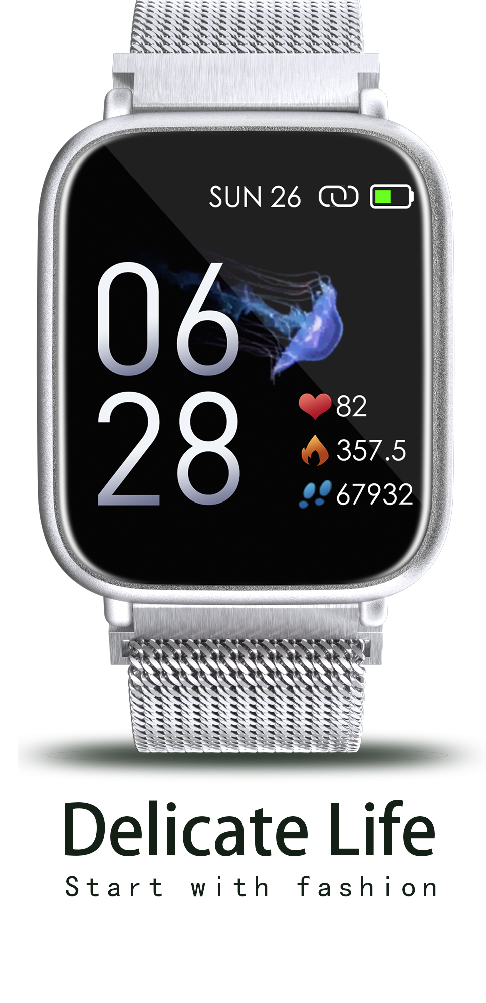 2020 new factory Q1 smart bracelet smart watch for blood pressure monitoring and dynamic heart rate testing