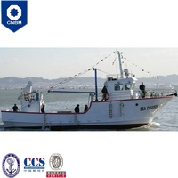 60ft China Shipyard New Fiberglass Commerical Trawler Vessel Seiner Fishing Boat for Sale Alaska