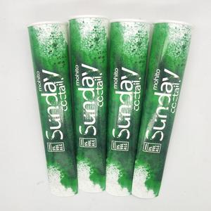 Custom Logo Printed Biodegradable Single Wall with double PE Disposable squeeze freezer  popsicle paper calippo tube