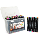 Promotional Multi Color Dual Tip cd Permanent Marker Pens Non-toxic Stationery Set