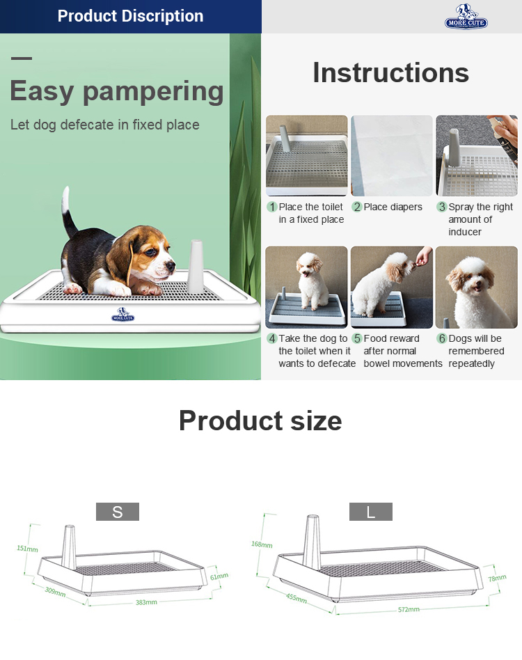 More Cute Pet Factory toilet pet Dog toilet Indoor Eco-friendly  Pet Cleaning Toilets S private label products