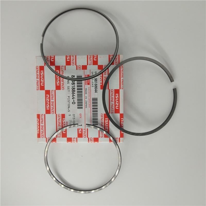 Оригинальный японский бренд 8-98188644-0 4KH1 4JH1 дизельный двигатель поршневое кольцо комплект